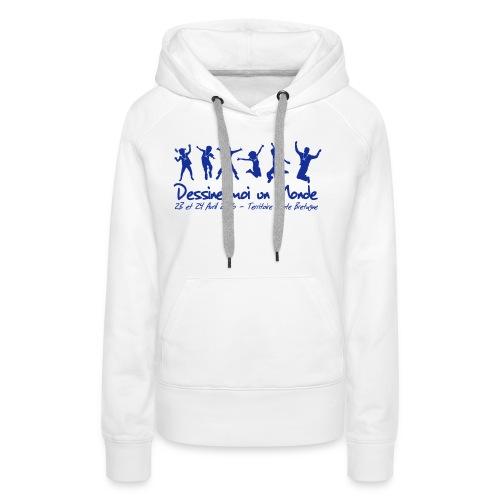 logo wet 2016 sp - Sweat-shirt à capuche Premium pour femmes
