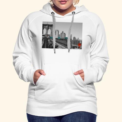 Brooklyn bridge - Felpa con cappuccio premium da donna