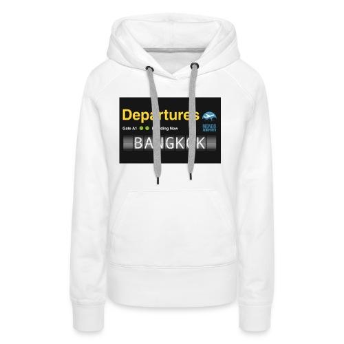 Departures BANGKOK jpg - Felpa con cappuccio premium da donna