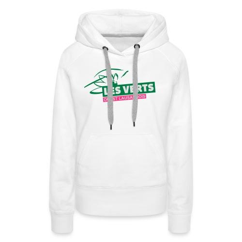 Les Verts OL normal - Sweat-shirt à capuche Premium pour femmes