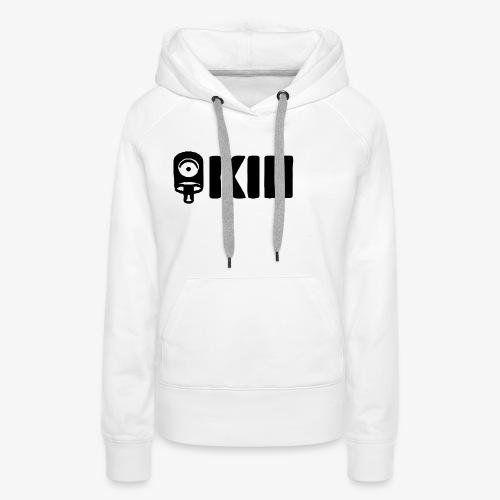 KII black logo - Sudadera con capucha premium para mujer