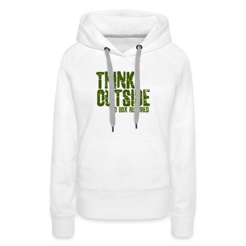 THINK OUTSIDE - Vrouwen Premium hoodie