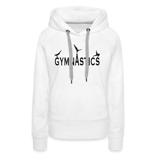Male Gymnastics With Black Silhouttes - Women's Premium Hoodie