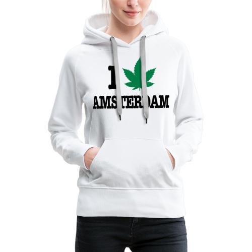 I CANNABIS AMSTERDAM - Frauen Premium Hoodie