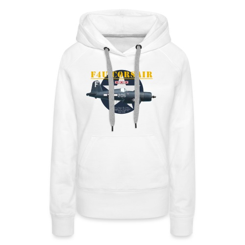 F4U Jeter VBF-83 - Sweat-shirt à capuche Premium pour femmes