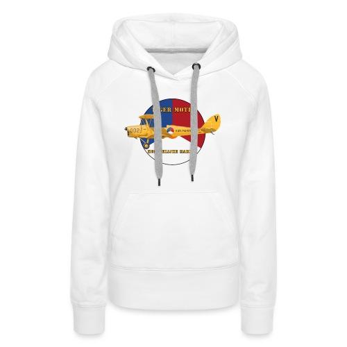 Tiger Moth Kon Marine - Sweat-shirt à capuche Premium pour femmes