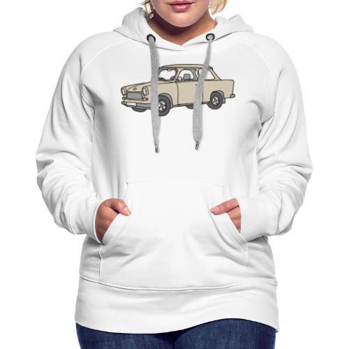 Trabi, Trabant (papyrus) - Sweat-shirt à capuche Premium pour femmes