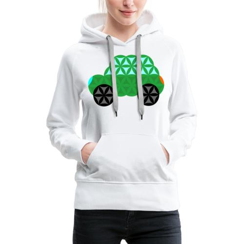 The Car Of Life - M01, Sacred Shapes, Green/363 - Women's Premium Hoodie