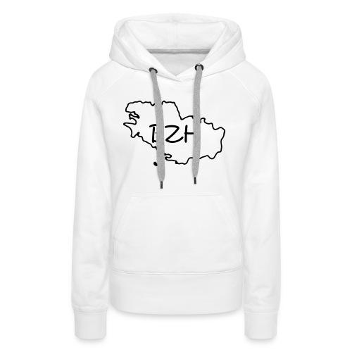 bretagne - Sweat-shirt à capuche Premium pour femmes