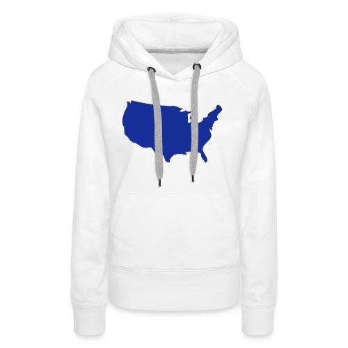 usa map - Women's Premium Hoodie