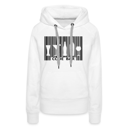 Code bar - Sweat-shirt à capuche Premium pour femmes