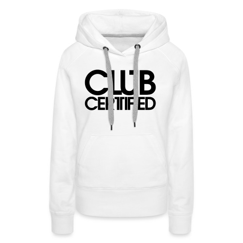 LOGO CLUB CERTIFIED BLACK - Women's Premium Hoodie