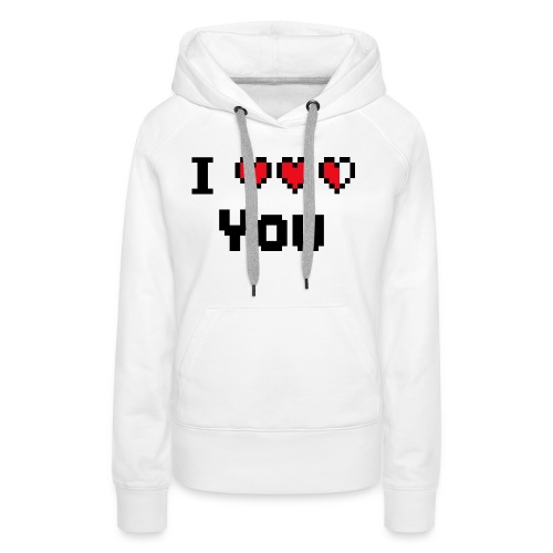 I pixelhearts you - Vrouwen Premium hoodie