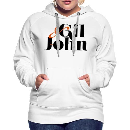gil & john - Sweat-shirt à capuche Premium pour femmes