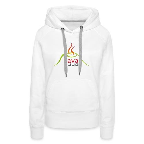 logo lavajug black - Sweat-shirt à capuche Premium pour femmes