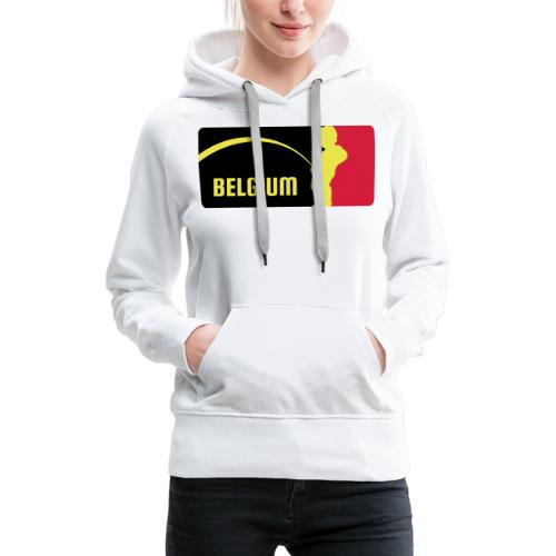 Mannekke Pis, Belgium Rode duivels - Belgium - Bel - Sweat-shirt à capuche Premium pour femmes
