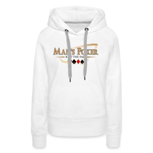 Mans Poker LQ fond clair - Sweat-shirt à capuche Premium pour femmes
