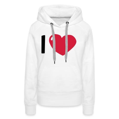 I love / I heart / I herz (Waldorf Style) - Frauen Premium Hoodie