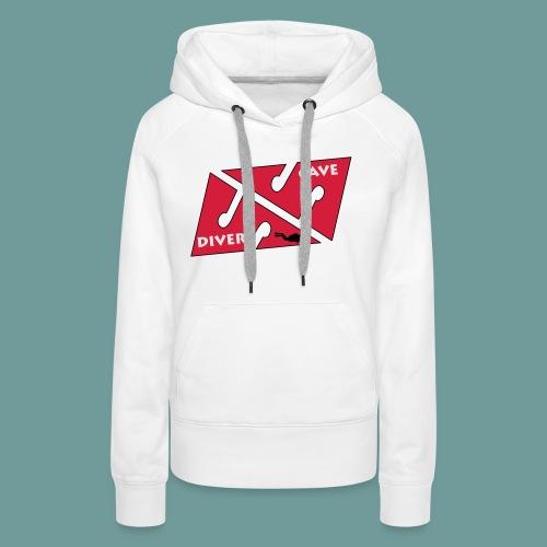 cave_diver_01 - Sweat-shirt à capuche Premium pour femmes
