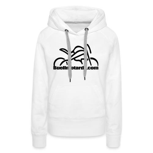 logo buellmotards black - Sudadera con capucha premium para mujer