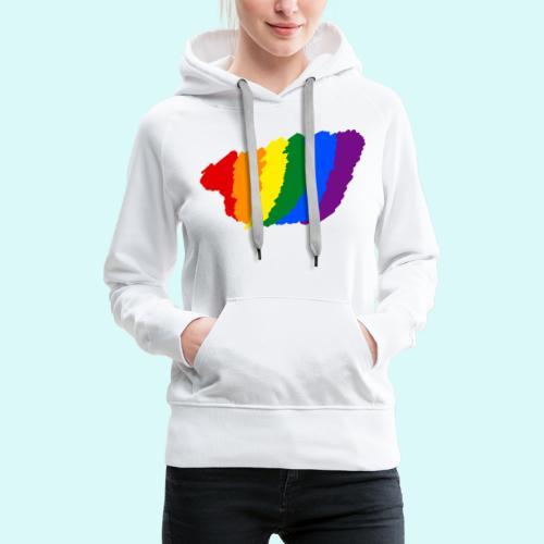 designe LGBT - Sweat-shirt à capuche Premium pour femmes