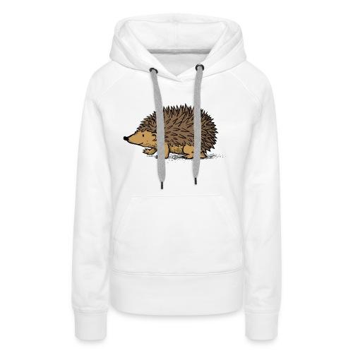 egel illustratie - Vrouwen Premium hoodie