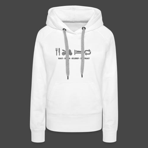 eat-ride-sleep-repeat - Vrouwen Premium hoodie
