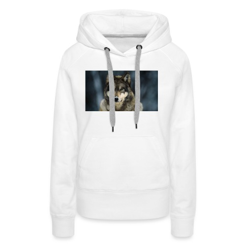 wolf shirt kids - Vrouwen Premium hoodie