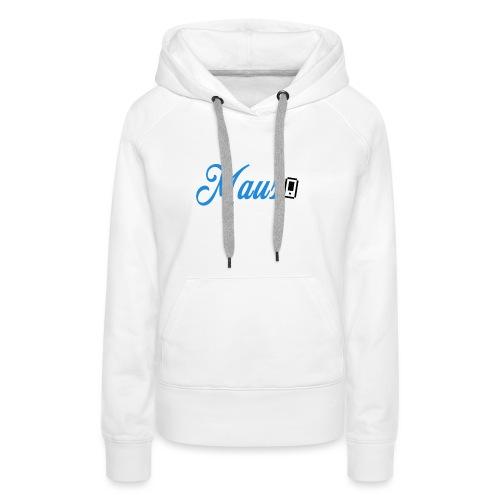 Hoesje MAUS 8Bit Blauw - Vrouwen Premium hoodie