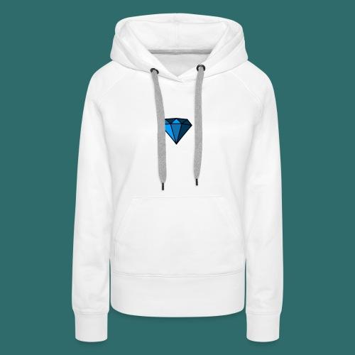 Blue Diamond - Felpa con cappuccio premium da donna