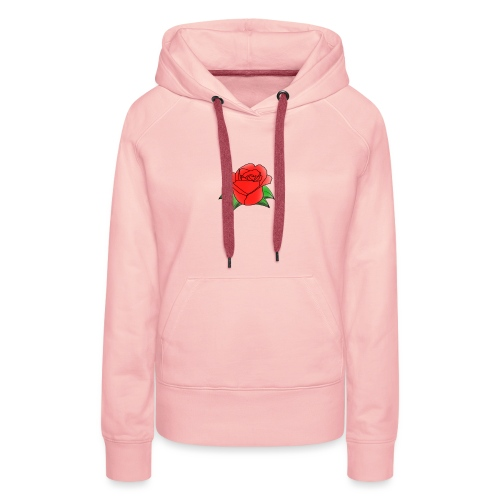 Rosa - Felpa con cappuccio premium da donna