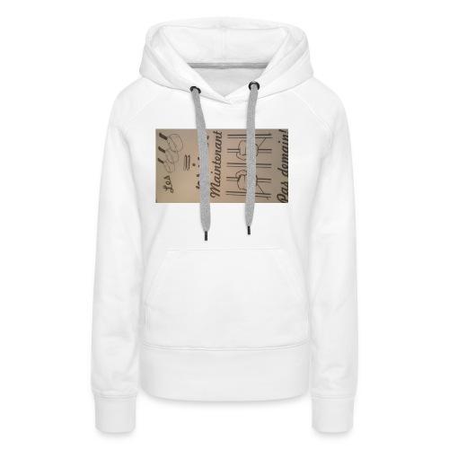 20170323 184455 - Sweat-shirt à capuche Premium pour femmes