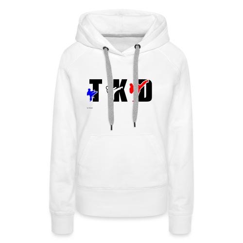 Design Taekwondo - Sweat-shirt à capuche Premium pour femmes