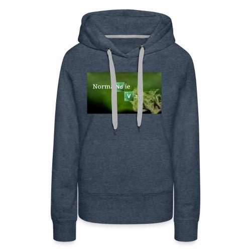 Normandie Vap' - Sweat-shirt à capuche Premium pour femmes