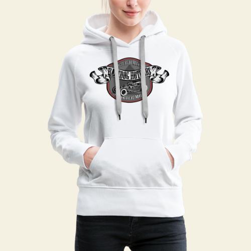 rod logo - Dame Premium hættetrøje
