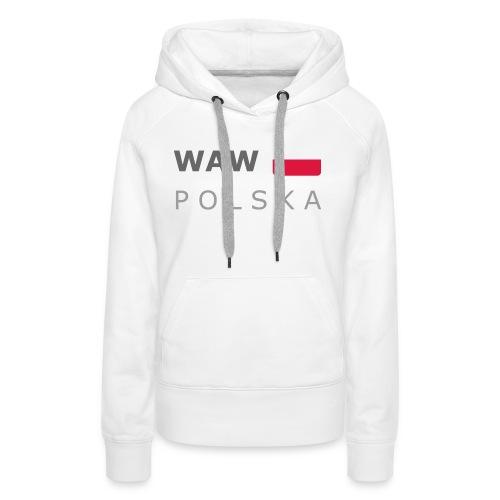 WAW POLSKA dark-lettered 400 dpi - Women's Premium Hoodie