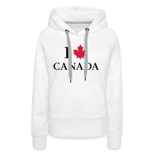 I love Canada Ahornblatt Kanada Vancouver Ottawa - Frauen Premium Hoodie