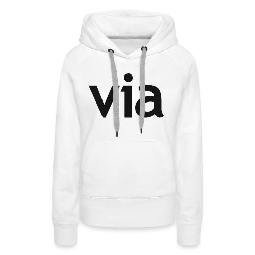 via black png - Vrouwen Premium hoodie