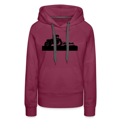 Tractor with cultivator - Women's Premium Hoodie