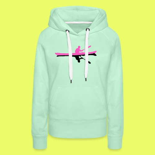Silhouette_pink-black - Frauen Premium Hoodie