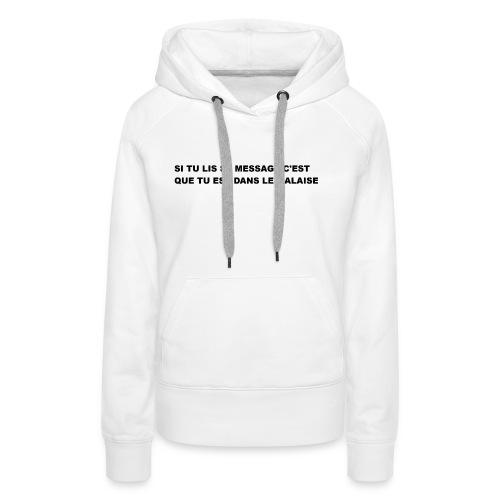 la réalité - Sweat-shirt à capuche Premium pour femmes