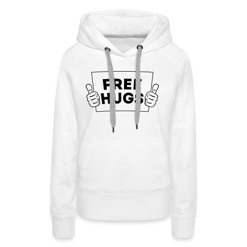 FREE HUGS! Daumen Hoch / Like Schild 1C - Frauen Premium Hoodie