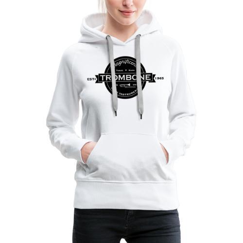 Trombone badge sw - Frauen Premium Hoodie