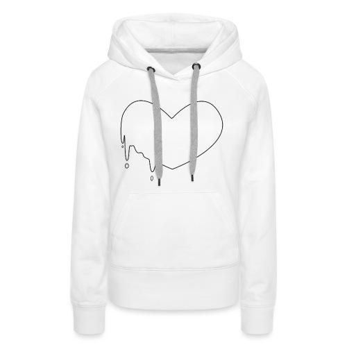 Coeur coulant minimal - Sweat-shirt à capuche Premium pour femmes