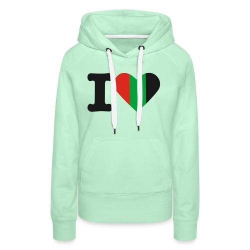 hartjeroodzwartgroen - Vrouwen Premium hoodie