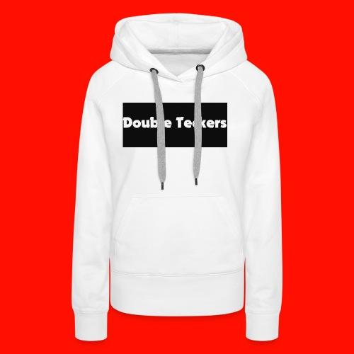 double teckers white top - Women's Premium Hoodie