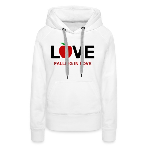 Falling in Love - Black - Women's Premium Hoodie