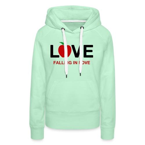 Falling in Love - Black - Women's Premium Hoodie