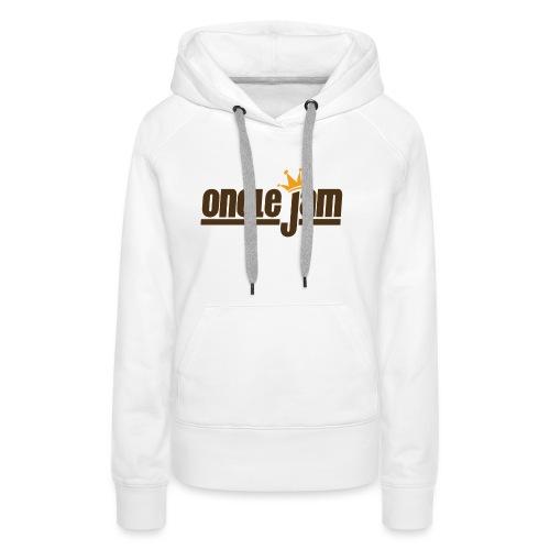 Oncle Jam horizontal brun - Sweat-shirt à capuche Premium pour femmes