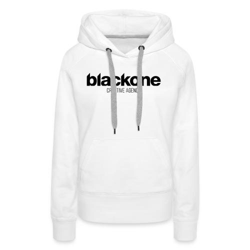Camiseta negra blackone - Sudadera con capucha premium para mujer